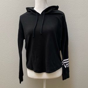 PINK Black Hoodie with Logo Small